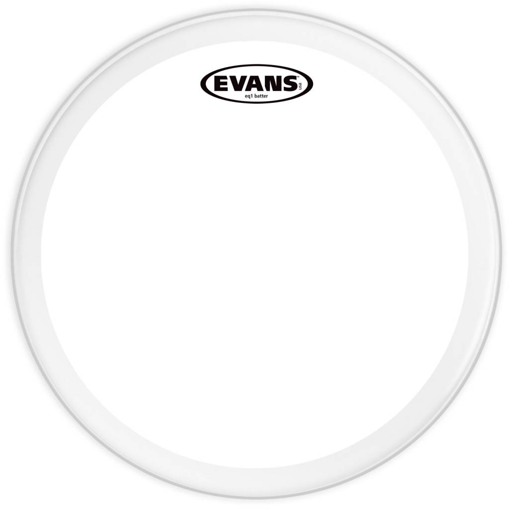 "Evans Evans 22"" EQ1 Clear"