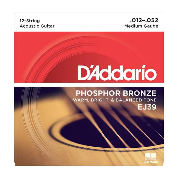 D'Addario D'Addario Phosphor Bronze Medium 12-String