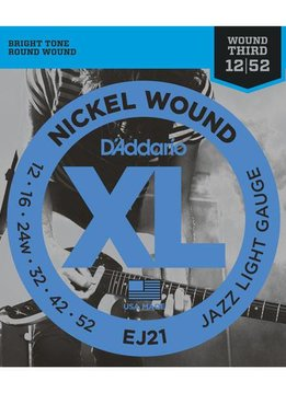 D'Addario D'Addario Nickel Wound Jazz Light Gauge