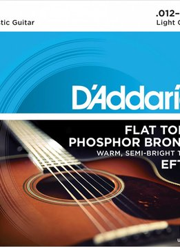 D'Addario D'Addario Flat Top Acoustic Strings, Light, 12-53