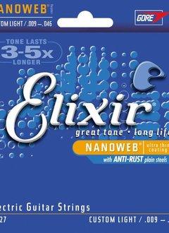 Elixir Elixir NANOWEB Nickel, Custom Light, 10-46