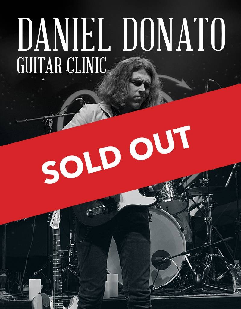 Daniel Donato Guitar Clinic - VIP Front Row, Signed CD, T Shirt