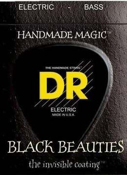 DR DR 5-String Bass Black Beauties Coated Medium 45-125