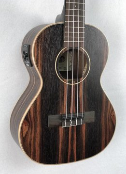Kala Kala KA-EBY-TE Tenor Ukulele with Pickup, Satin/Striped Ebony