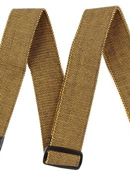 "Fender Fender® ""F"" Tweed Strap, Gold/Black"