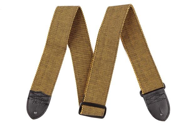 """Fender Fender® """"F"""" Tweed Strap, Gold/Black"""
