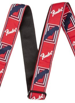 "Fender Fender® 2"" Monogrammed Strap, Red/White/Blue"