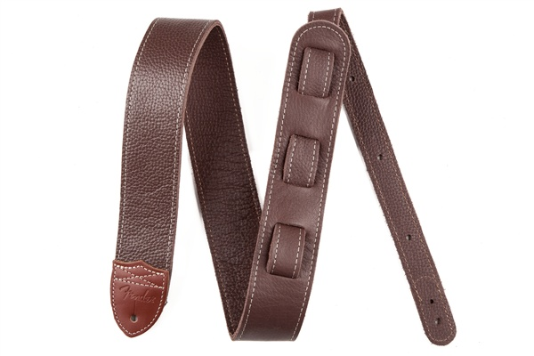 Fender Fender® Custom HQ Leather Strap, Brown