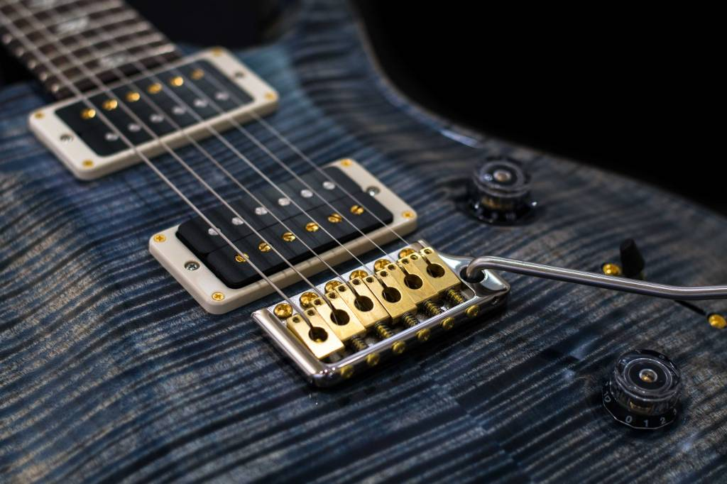 PRS PRS Custom 24, 10-Top, Faded Whale Blue With Pattern Thin Neck