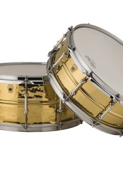 "Ludwig Ludwig 6.5"" x 14"" Hammered Brass Snare, Tube Lugs"