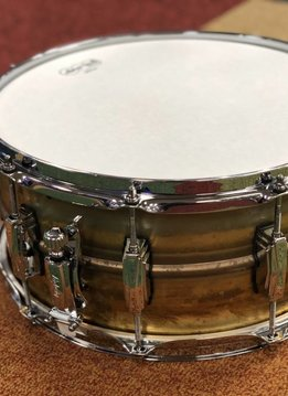 "Ludwig Ludwig Raw Brass Snare Drum, 14"" x 6.5"""
