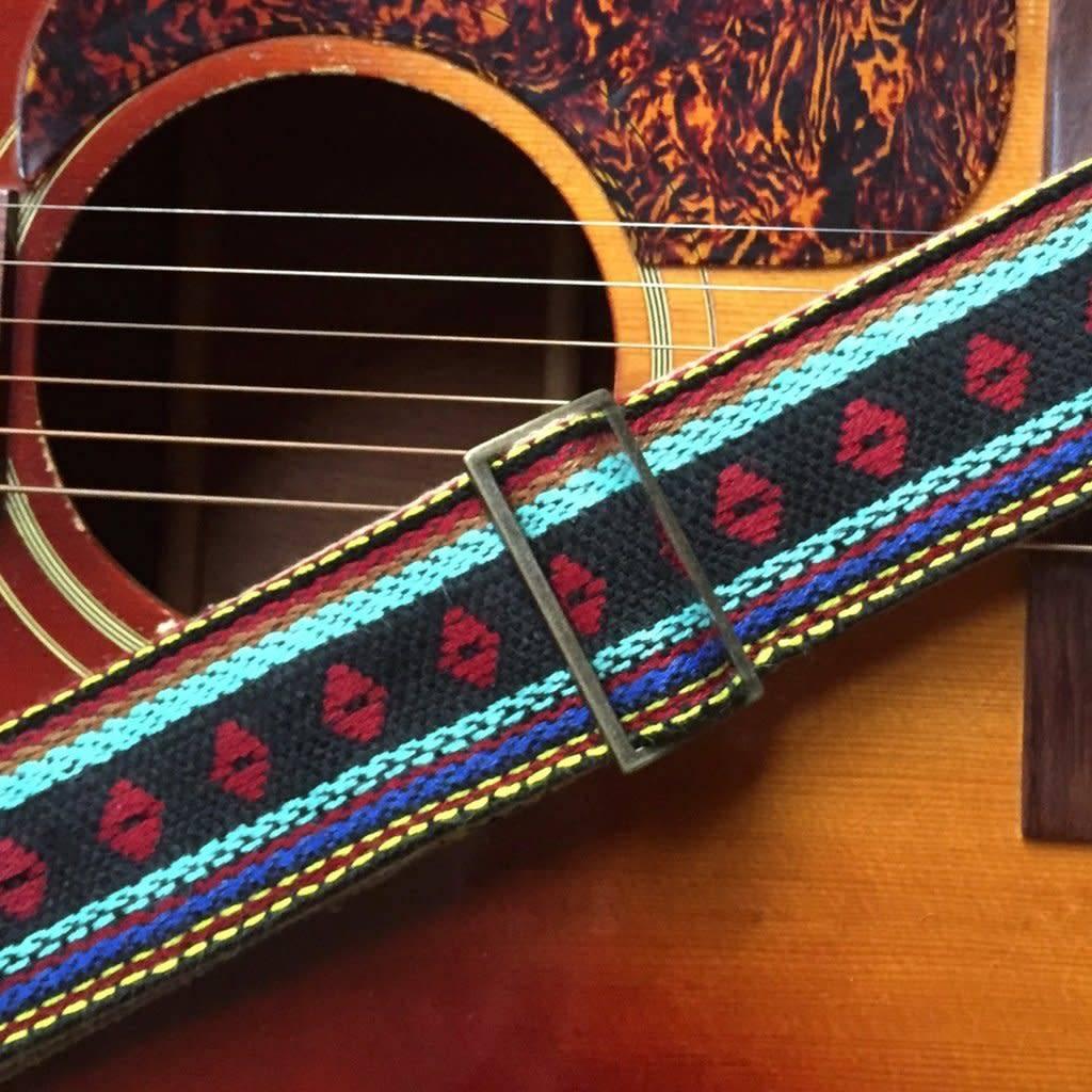 Fuzz Original Fuzz Indian Guitar Strap in Yamuna