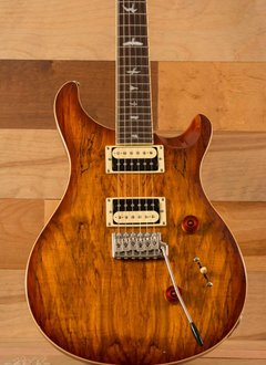 PRS PRS SE CU24 Spalted Maple Top, Vintage Sunburst