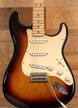 Fender Fender Upgraded* Standard Stratocaster®, Maple Fingerboard, Brown Sunburst, Gold Pickguard