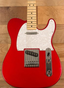 Fender Fender Upgraded Standard Telecaster®, Maple Fingerboard, Candy Apple Red, Pearloid Pickguard