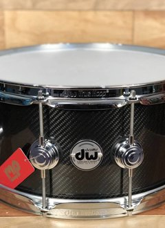 DW DW Collector's Series® Carbon Fiber Snare - Natural Gloss Carbon Fiber with Chrome Hardware (6.5x14)