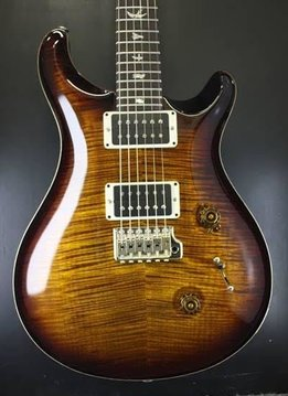 PRS PRS Custom 24 10-Top, Black Gold Burst/Natural Binding