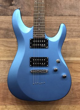 Schecter Schecter C-6 Deluxe Electric Guitar, Satin Metallic Light Blue
