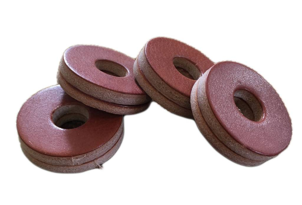 Tackle Instrument Supply Co Tackle Leather Cymbal Washers - Mahogany