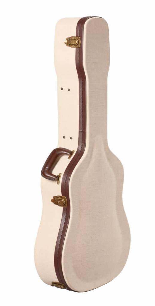 Gator Cases Gator Deluxe Wood Case for Dreadnought Acoustics3b Journeyman Burlap Exterior