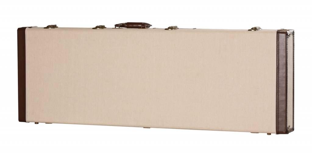 Gator Cases Gator Deluxe Wood Case for Bass Guitar3b Journeyman Burlap Exterior