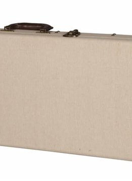 Gator Cases Gator Deluxe Wood Case for Standard Electric Guitars; Journeyman Burlap Exterior