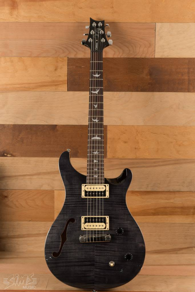 PRS PRS SE Custom 22 Semi Hollow, Gray Black