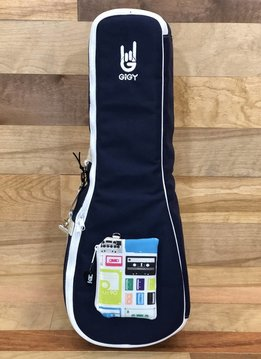 GiGY GiGY Concert Ukulele Gig Bag - Navy/White, Includes Mini Tote & Handle