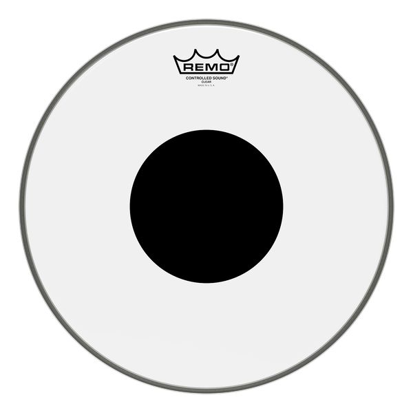 "Remo Remo 14"" Controlled Sound Clear, Black Dot"
