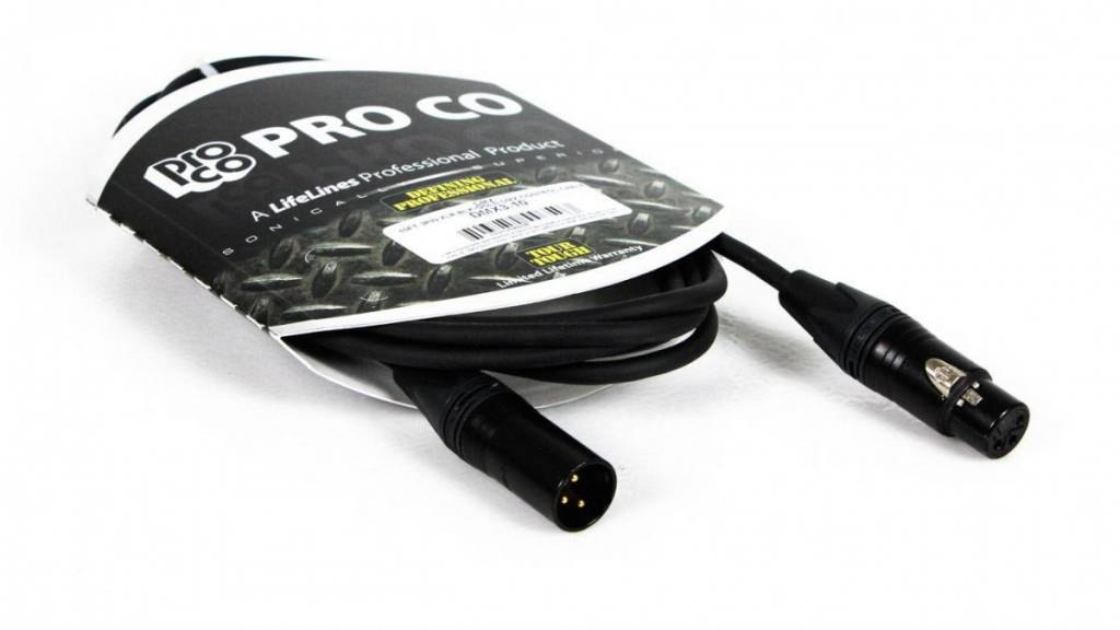 Rapco 10' 3Pin DMX Cable