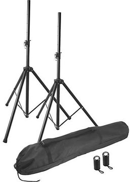 On-Stage On-Stage SSP7750 Compact Speaker Stand Set w/ Bag