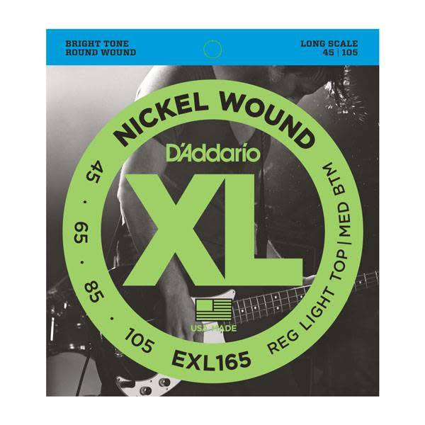 D'Addario D'Addario 4-string, Nickel, Light, Long Scale, 45-105
