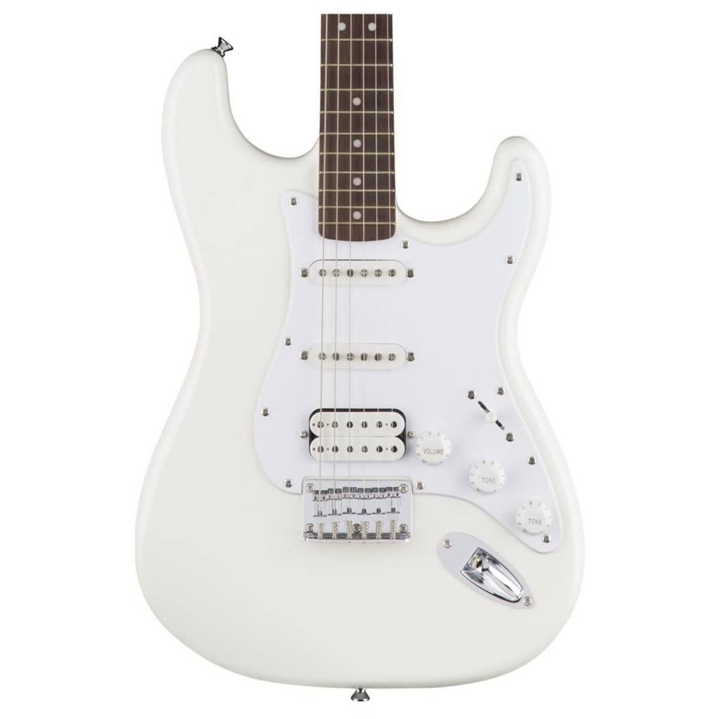 Squier Squier Bullet Stratocaster® HSS Hard Tail, Laurel Fingerboard, Arctic White