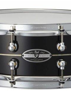 """Pearl Pearl HEK1450308 14""""x5"""" Hybrid Exotic Kapur/Fiberglass Snare, Ebony Lacquer"""