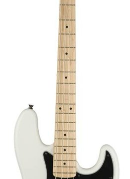 Squier Squier Contemporary Active Jazz Bass® HH, Maple Fingerboard, Flat White