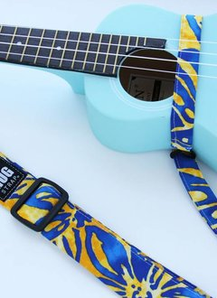 The Hug Strap The Hug Strap For Ukulele - Blue and Yellow Hawaiian