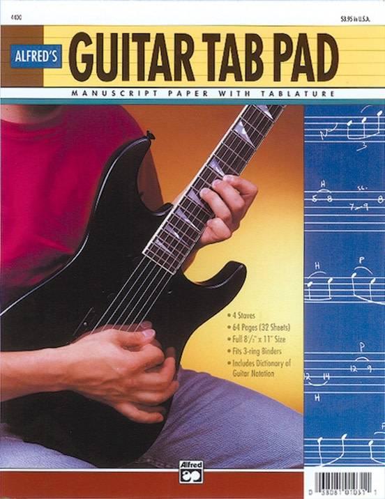 "Alfred's Guitar TAB Pad (8.5"" x 11"")"