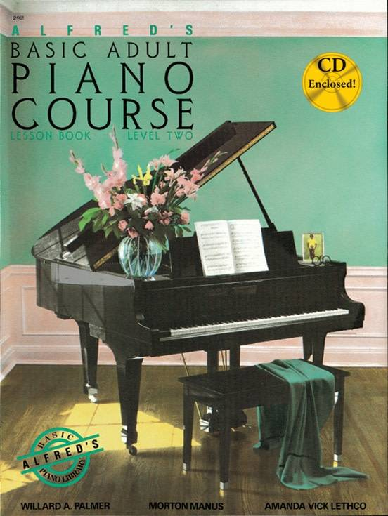 Alfred's Basic Adult Piano Course3a Lesson Book 2 W/CD