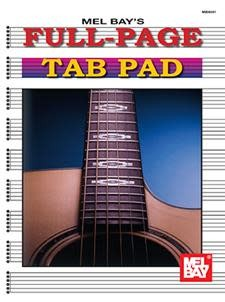 Mel Bay Full Page Tab Pad