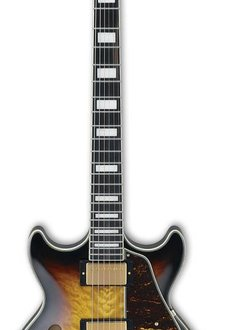 Ibanez Ibanez AM93QM Artcore Semi-Hollow Body Electric, Aged Yellow Sunburst