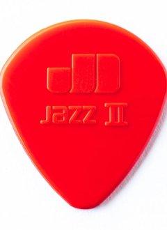 Dunlop Dunlop Jazz 2 Red Nylon Picks, 6-pack