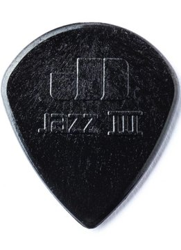 Dunlop Dunlop Jazz 3 Nylon Black Stiffo Picks, 6-pack