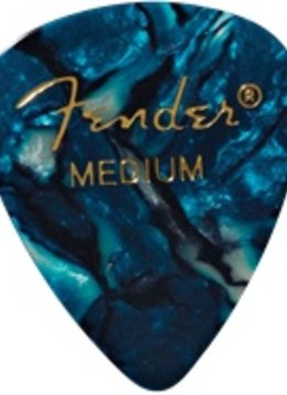 Fender Fender Ocean Turquoise Medium Picks, 12-pack