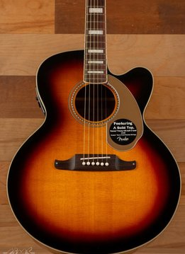 Fender Fender Kingman™ Jumbo SCE with Case, 3-Color Sunburst