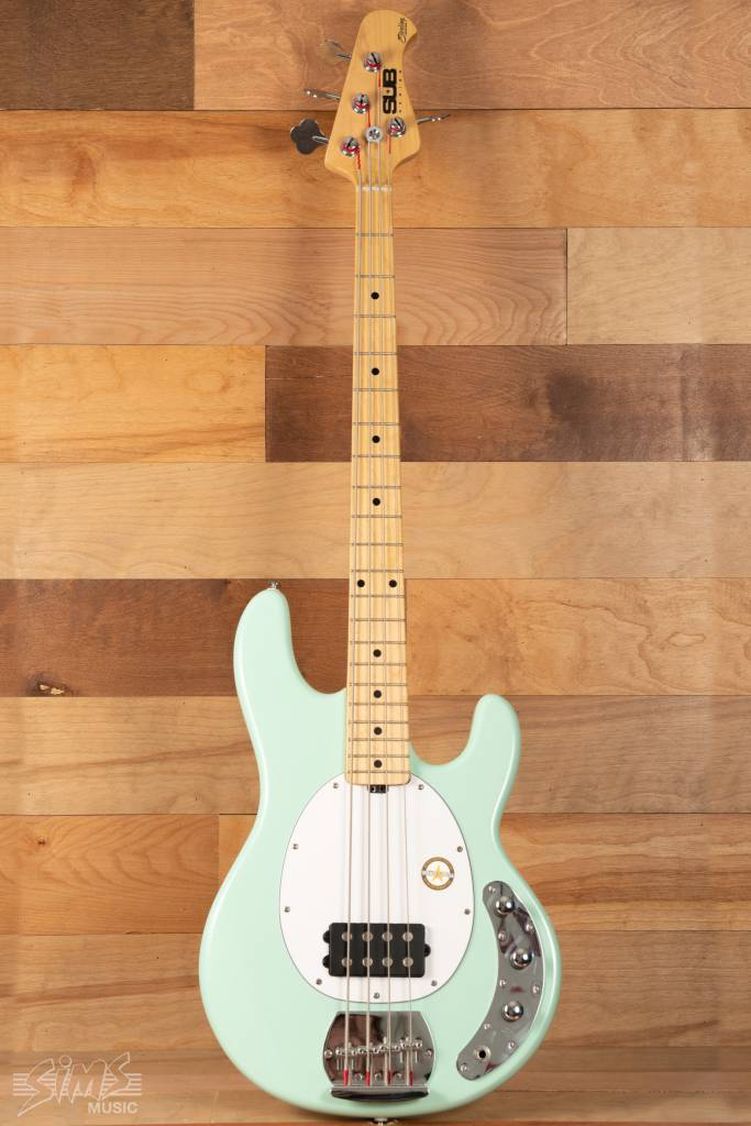 Sterling Sterling Sub Series RAY4 Electric Bass, Mint Green, Maple Fingerboard