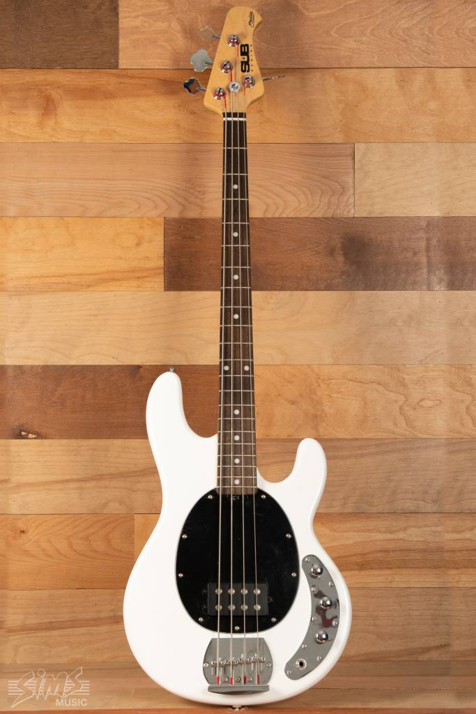 Sterling Sterling Sub Series 4 Electric Bass, White, Rosewood Fingerboard