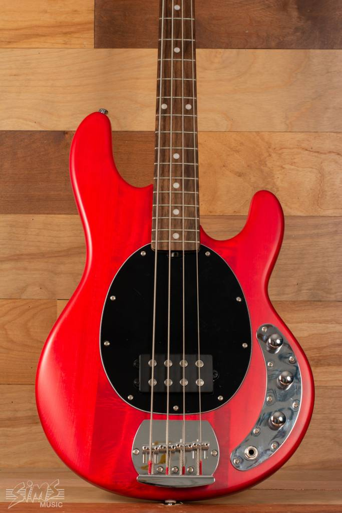 Sterling Sterling Sub Series Ray4 Electric Bass, Transparent Red, Rosewood Fingerboard