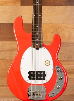 Sterling Sterling Sub Series Ray4 Electric Bass, Fiesta Red, Rosewood Fingerboard