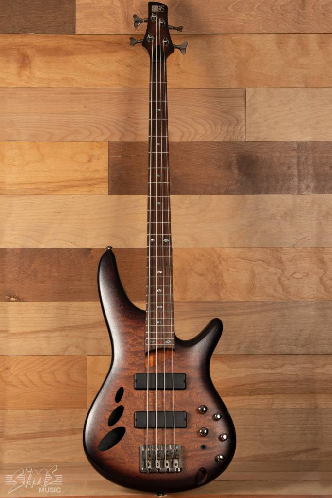 Ibanez Ibanez Sound Gear SR30TH4 4-String Bass, Natural Browned Burst Flat