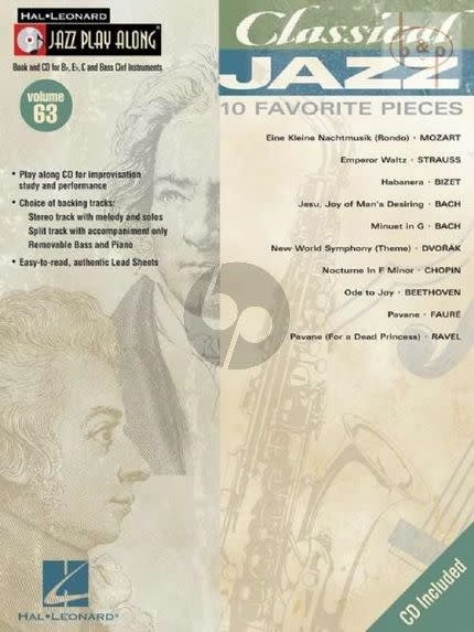 Hal Leonard Classical Jazz3a 10 Favorite Pieces, Jazz Play-Along